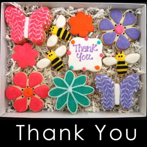 Thank You Cookie Box Flowers, Bees