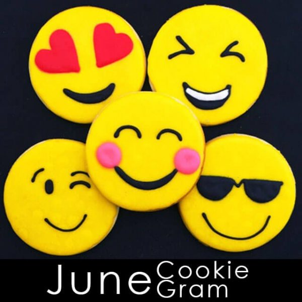 June Cookie Gram - assorted emoji cookies