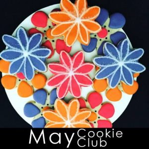 May Cookie Club - colorful flower cookies