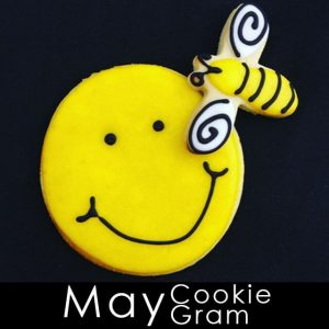 May Cookie Gram - Yellow Smiley face with bee