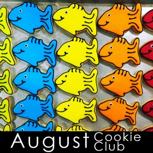 August Cookie Club - Color Fish cookies