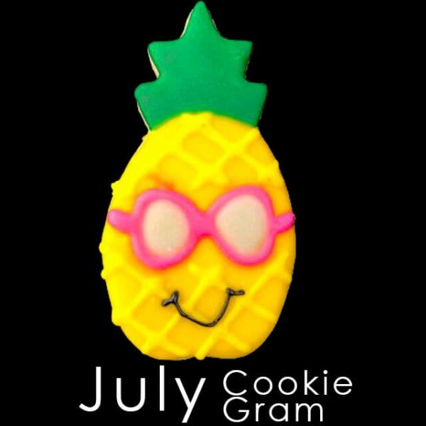 July Cookie Gram - Pineapple with glasses